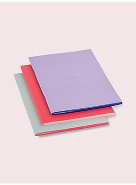 カラーブロック ノートブック セット