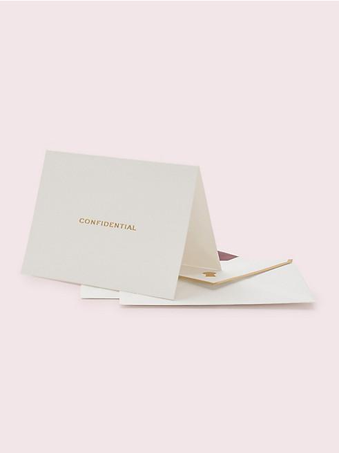 コンフィデンティアル ノートカード セット