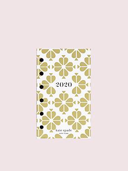 アジェンダ 2020 ゴールド スペード フラワー ポケット ウィークリー & マンスリーリフィル
