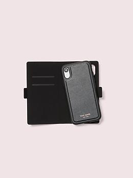 アイフォン ケース グリッター マグネティック フォリオ - XR