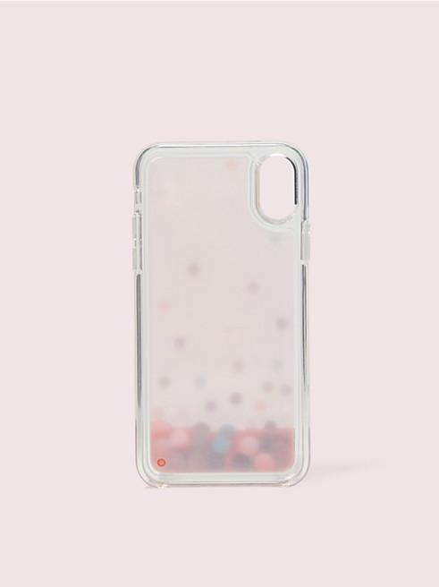 アイフォン ケース ドット リキッド グリッター - xs