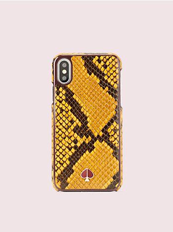 アイフォン ケース スネーク エンボス - XS
