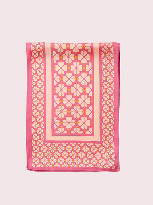 スペード フラワー シルク オブロング スカーフ
