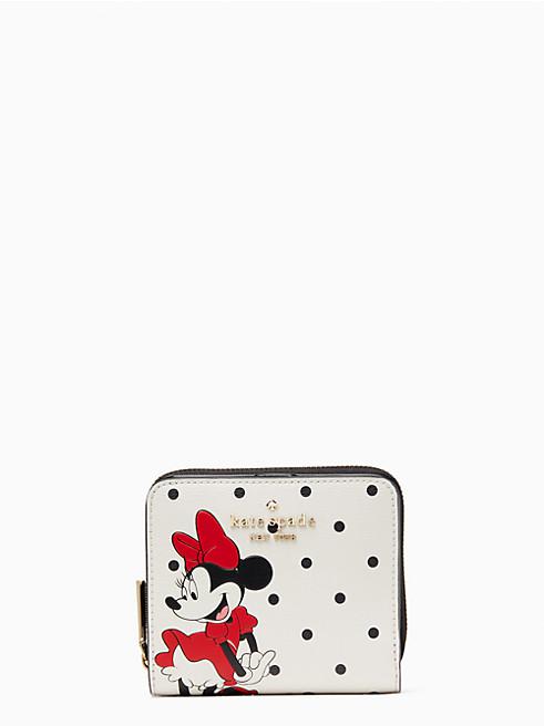 ディズニー X ケイト・スペード ニューヨーク ミニー マウス スモール ジップ アラウンド バイフォールド ウォレット
