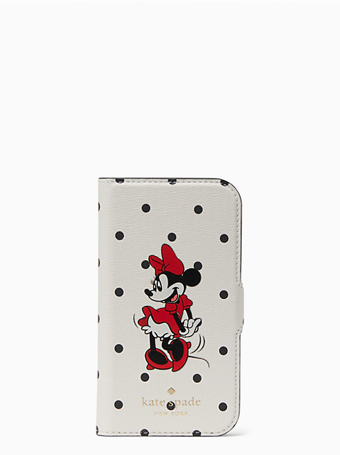 ディズニー X ケイト・スペード ニューヨーク ミニー マウス マグネティック フォリオ 12 mini