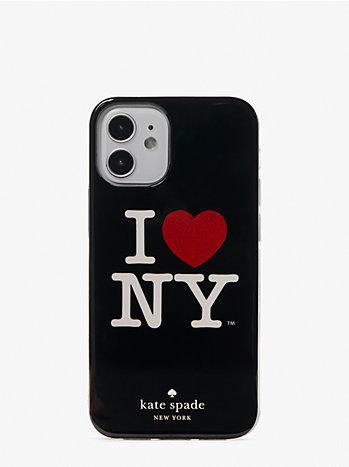 アイ ラブ ニューヨーク X ケイトスペードニューヨーク アイフォン 12mini ケース