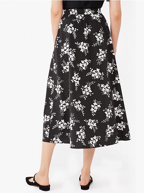 フローラル クラスター ポプリン スカート