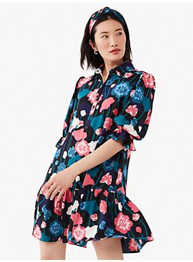 バイニー フローラル フルイド シャツドレス