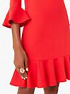 フラウンス ポンチ シフト ドレス