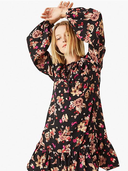フローラル ブーケ シフト ドレス