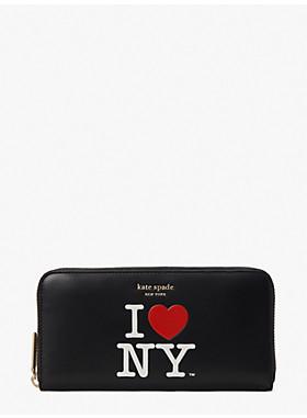 アイ ラブ ニューヨーク X ケイト スペード ニューヨーク ジップ アラウンド コンチネンタル ウォレット