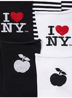 3パック アイ ラブ ニューヨーク X ケイトスペードニューヨーク クルー ボックス セット