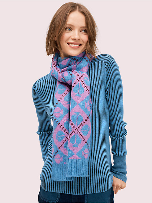 スペード アーガイル スカーフ