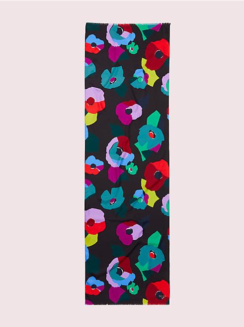 フローラル コラージュ オブロング スカーフ