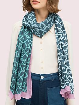 インターロック スペード オブロング スカーフ