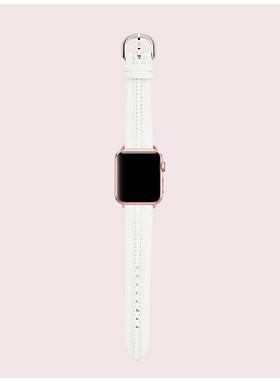 ホワイト レザー 38/40MM アップル ウォッチ ストラップ