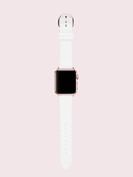 ホワイト スカラップ シリコン 38/40MM アップル ウォッチ ストラップ