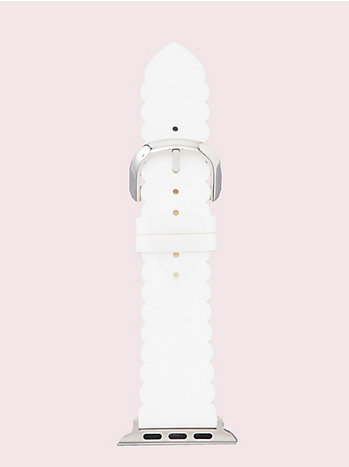 ホワイト スカラップ シリコン 42/44MM アップル ウォッチ ストラップ