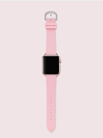 ピンク スカラップ シリコン アップル ウォッチ® ストラップ