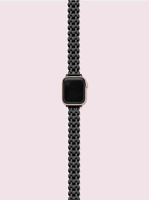 ブラック ステンレス スチール アップル ウォッチ® スカラップ ブレスレット
