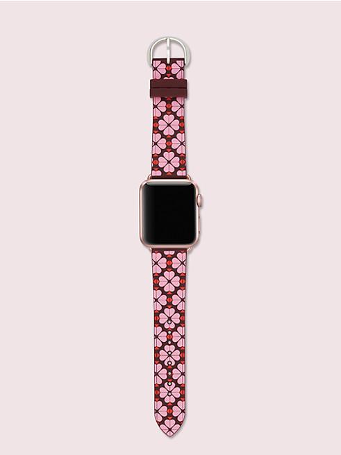 ピンク スペード フラワー シリコン アップル ウォッチ® ストラップ