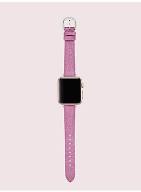 ピンク グリッター 38/40MM フラワー アップル ウォッチ® バンド