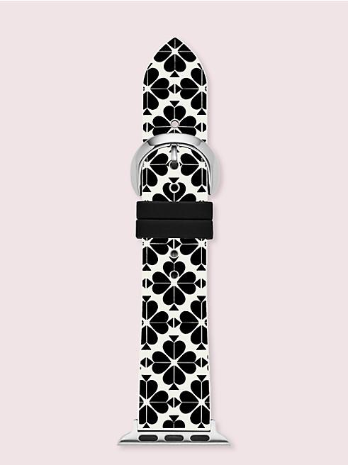 ブラック アンド ホワイト スペード フラワー シリコン 38/40MM アップル ウォッチ® バンド