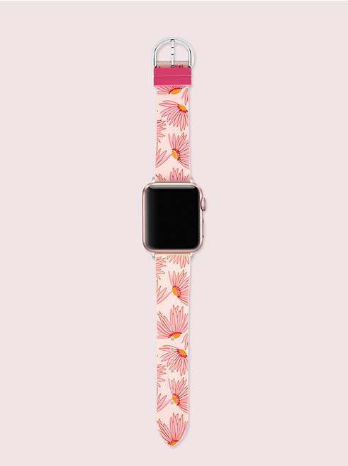 ピンク フローラル-プリント シリコン 38/40MM アップル ウォッチ® バンド