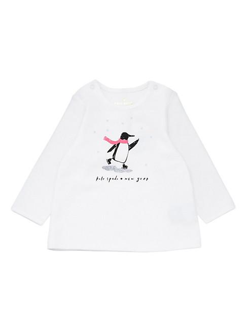 レイエット スケーティング ペンギン グラフィック トップ アンド スカート セット