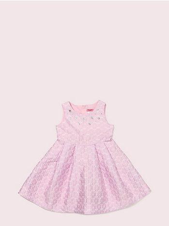 トドラー スペード フラワー ジャガード ドレス