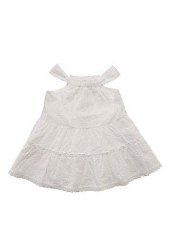 トドラー フローラル アイレット ドレス