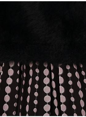 トドラー パール ドロップス ミックス メディア ドレス