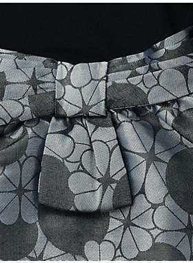 トドラー ラスター ジャガード ミックス メディア ドレス