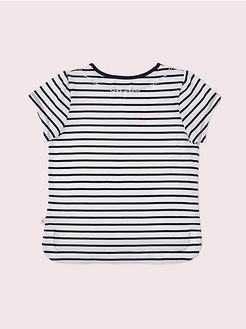 ガールズ トロンプルイユ スペード フラワー チャーム ネックレス Tシャツ