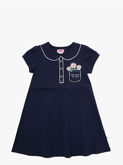 ガールズ トロンプルイユ ポケット ドレス