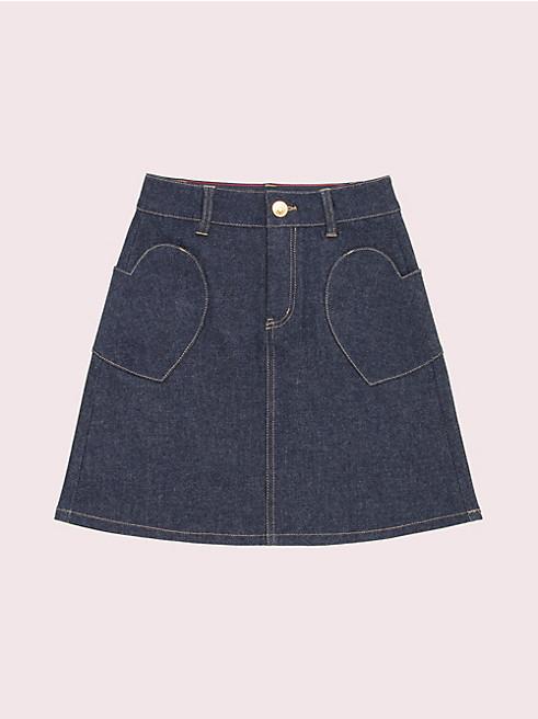 ガールズ ハート ポケット スカート