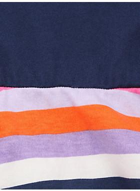 ガール サンセット ストライプ ミックス ドレス