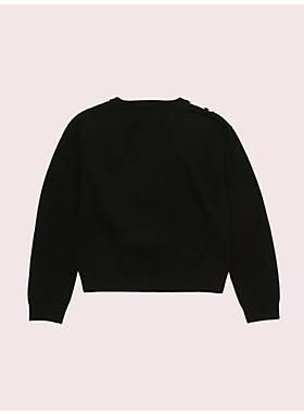 ガールズ トロンプルイユスカーフ セーター