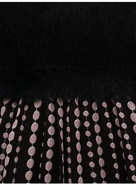 ガールズ パール ドロップス ミックス メディア ドレス