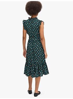 ブラックベリー ラッフル ラップ ドレス