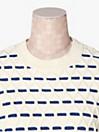 メインライン ストライプ ケーブル セーター