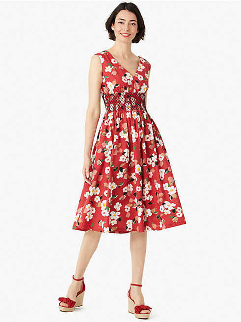 メインライン ボタニカル ガーデン ポプリン ドレス