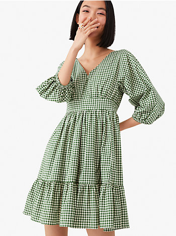 メインライン ミニ ギンガム ボデガ ドレス