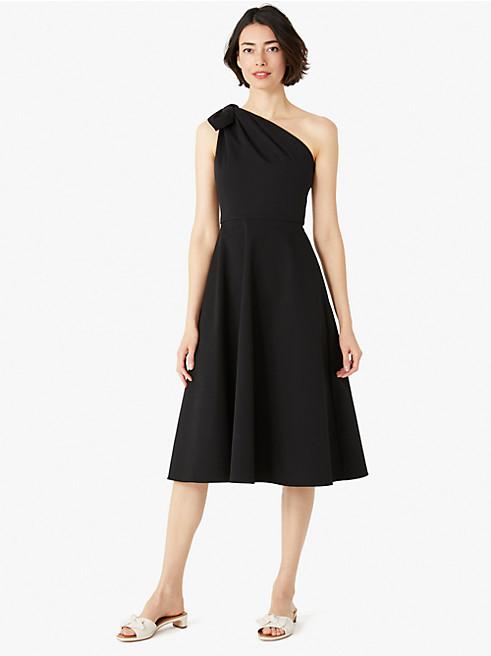 メインライン ツイル ワン ショルダー ドレス