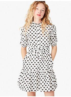 メインライン ブロック フラワー シャツドレス