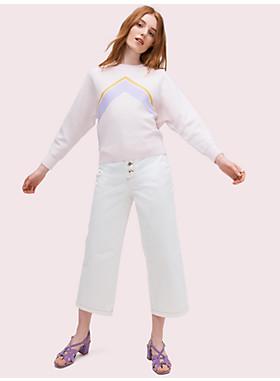 グラフィック インターシャ セーター