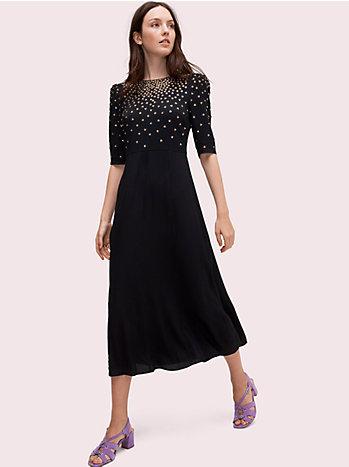 クリスタル ボディス ドレス