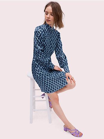 フローラル スペード シルク ドレス