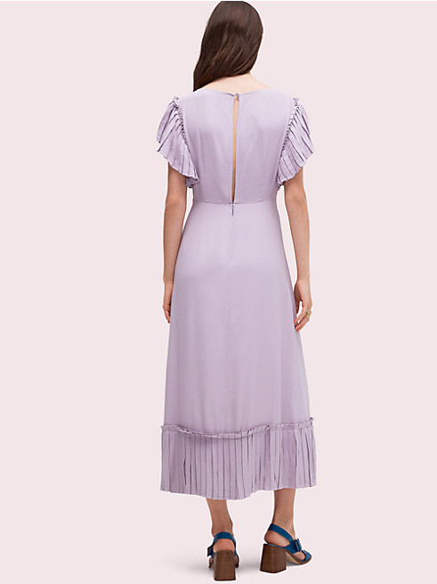 プリーツ クレープ ドレス