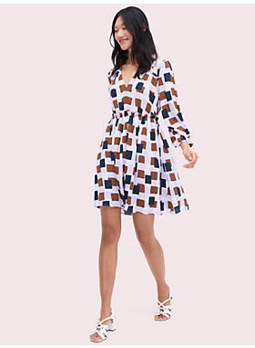 ジオ スクエア ミニ ドレス